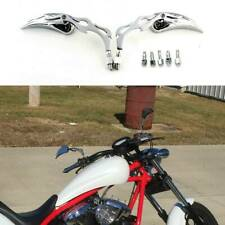 Motorcycle 2x Chrome Teardrop Rearview Mirror Custom For Harley Street Chopper