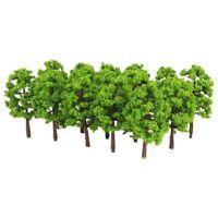 Kunststoff Modell Baum Zug Eisenbahn Landschaft 1: 100 20 Stk. Dunkelgruen X6 2I