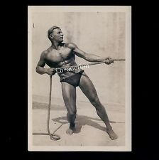 NEAR NUDE STRONG SPORTSMAN / FAST NACKTER SPORTLER * Vintage 1930s Photo GAY INT