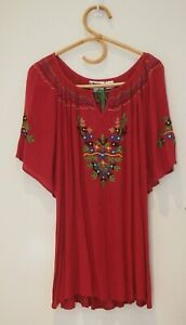 Eastern Jem Pink Embroided Hippie Top    ~Size 2XL/3XL~  New