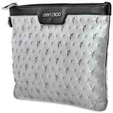 Jimmy Choo Men's Embossed Stars on Grainy Leather Document Holder 184 DEREK/S