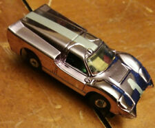 "Aurora Xlerator Ford ""J"" Rare Color Chrome Model Motoring H.O. Scale Slot Car"