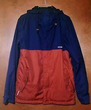 HOLDEN Men's Ski Shell Hoody Jacket Blue/Red-Orange Size Large