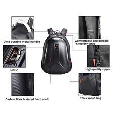 Motorcycle PVC Backpack Helmet Bag Extendable Packsack Waterproof USB Outlet Kit