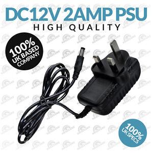 CCTV Power Supply Unit Adapter 2 Amp (2.1mm Jack) 12V DC 2A UK PSU Plug (UK)