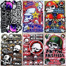 Motocross racing Nascar Moto-GP Sponsor  Car Bike Turck Helmet Stickers 6 sheets