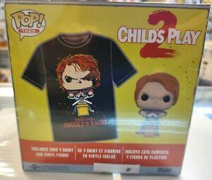 CHILDS PLAY 2 Tees FIGURE XL SHIRT FUNKO POP Vinyl Chucky Good Guys Horror FYE