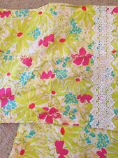 Lily Pulitzer for Garnet Hill Twin Duvet Cover 2 Standard ShamsLime Green Floral