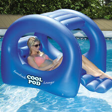 Swimline Swimming Pool Coolpod Sunshade Lounger Inflatable Float - Blue