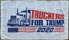 Truckers For Trump 2020 Presidential Campaign Semi 3X5 Flag Rough Tex® BANNER