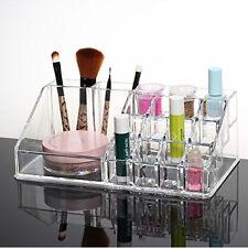 Crystal Acrylic Cosmetic Organizer Makeup Jewelry Lipstick Brush Holder Box NEW