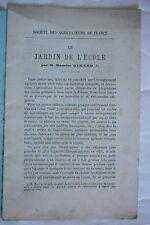 Le Jardin de L.école. Maurice Girard. Ecologie et Insectes. 1884.