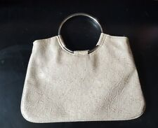 GIANNINI Handbag Genuine Faux Leather Silver Tone Handles (NWOT)