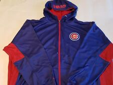 Big and Tall New Mens Majestic 3XL Exquisite Chicago Cubs Blue Sweatshirt