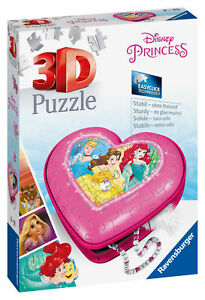11234 Ravensburger Disney Princess Heart Shaped 3D Jigsaw Puzzle 54pc Age 8+