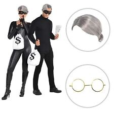 OAP Gangster Grandma Thief Robber Novelty Stag Hen Do Fancy Dress Kit Wig Specs