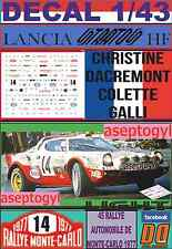 DECAL 1/43 LANCIA STRATOS HF C.DACREMONT R.MONTECARLO 1977 (LIGHT) (02)