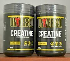 Universal Nutrition (2) bottles Micronized Creatine 500 grams Creapure Lot of 2