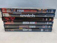 Violence Pack Dvd Lot•6 Movies•Boondock Saints,300,American History X, Snatch.