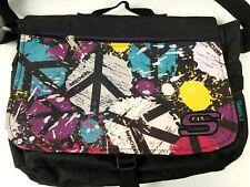 Skechers Book Bag Satchel Messenger Laptop Peace Sign Hippy Colorful 15
