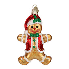 """""""Gingerbread Boy"""" (Cookie) (32164) Old World Christmas Glass Ornament w/ OWC Box"""