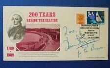 1989 200 ans, à côté de la mer couverture commémorative signé par Dora Bryan