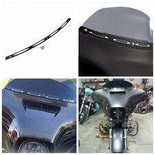 Black 4 Slot Windshield Trim Batwing Fairing Harley Electra Street Glide 96-2013