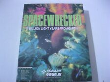 """Space Wrecked Spacewrecked new sealed PC game 5.25"""" disks Konami"""
