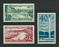 DR Danzig Nazi WWII Rare WW2 Stamps 1936 Danzig Castles Sea Ship Boat Collection