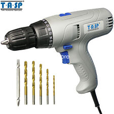 TASP 280W Electric Drill Screwdriver 5m Cable Torque Adjustable with Power Tool