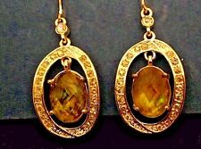 New  Avon Abalone  Link Earrings  dangle  style  with  locking wires