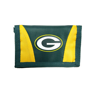 Green Bay Packers Football League Licensed Nylon Tri-Fold Chamber Wallet