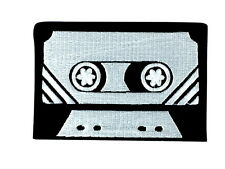 patch applique embroidered tape applique embroidery iron on music cassette