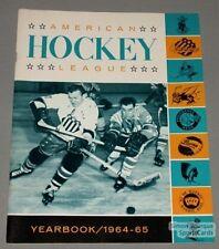 Original 1964-65 American Hockey League Yearbook