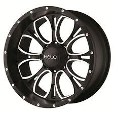 17 inch Black Wheels Rims Hummer H3 Toyota Truck Tacoma 6 lug Helo HE879 Set 4