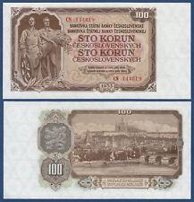 TSCHECHOSLOWAKEI CZECHOSLOVAKIA 100 Ko. 1953 UNC P.86 a