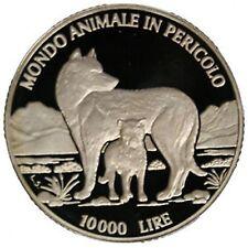 SAN MARINO 1996 LIRE 10.000 ARGENTO MONDO ANIMALE IN PERICOLO FS GRAMMI 22 (sm1)