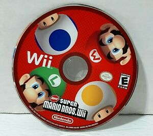 New Super Mario Bros (Wii, 2009) -- Disc Only