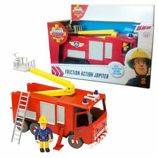 New Fireman Sam Friction Jupiter Fire Engine With Articulated Sam Figure