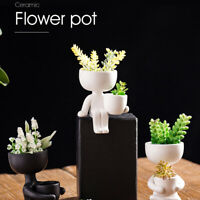 Humanoid Ceramic Flower Pot Portrait Vase Fleshy Flower Arrangement Flower Pot`