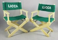 1980s Licca Doll Director Chairs Takara vintage Jenny 3rd generation green white