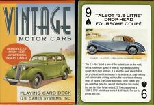 Vintage Motor Cars Playing Cards Poker Size Deck USGS Custom New Sealed