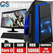 FORTNITE PC Gaming Bundle Intel Core i3 2100 4GB 500GB Windows 10 GT 710 2GB 19""