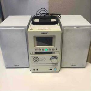 SONY CMT-M35WM White Cd Md Cassette Tape Usb System Stereo Set Pre-Owned