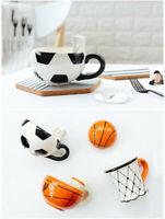 Creative Football Basketball Ceramic Coffee Mug Milk Cup Water Mug Home Office