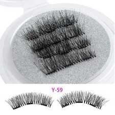 SKONHED 4Pcs Handmade Full Coverage Magnetic False Eyelashes Soft Cross Makeup