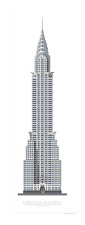 Chrysler Building, New York. Signed limited Edition highly detailed art print.