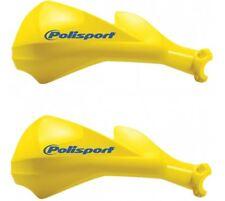 Polisport Sharp Yellow Closed Hand Guards/Protectors fits Kawasaki KLR650 11-12
