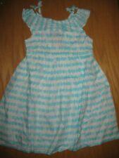 NWT Gymboree Seaside Stroll Size 5T Aqua Blue Circle Striped Dress