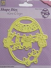 Nellie Snellen Baby Clothes Cutting Die, craft, card making, SDL012